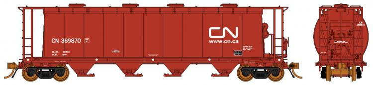 Rapido - NSC 3800 cu. ft. Cylindrical Hopper - CN Brown (Website) #369825 - In Stock