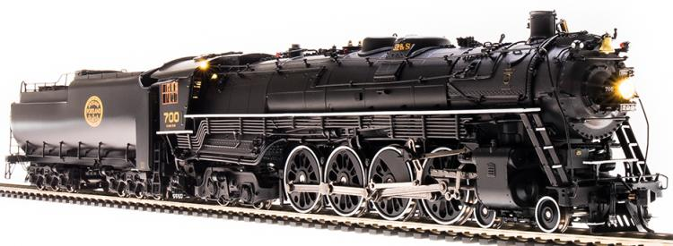 Broadway Limited - Brass Hybrid - SP&S E-1 4-8-4 #700 (Black -  Modern Excursion) Oil Tender - DC/DCC Paragon3 Sound - In Stock