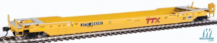 Walthers Proto - Gunderson Rebuilt 53' Well Car - DTTX #469292 (TTX Yellow) - In Stock