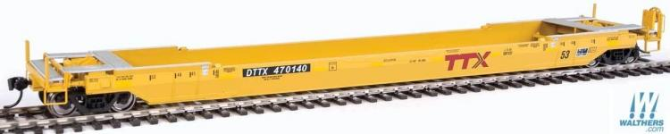 Walthers Proto - Gunderson Rebuilt 53' Well Car - DTTX #470140 (TTX Yellow) - In Stock