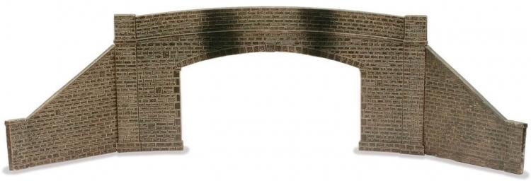 Peco - Lineside Kit - Road Bridge Sides & Walls - Stone - Double Track - In Stock