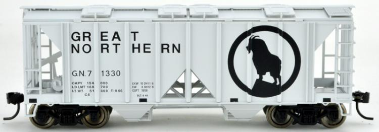 Bowser - 70 Ton 2 Bay Covered Hopper - GN #71339 (Great Northern Grey - Goat) - In Stock