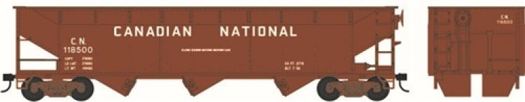 Bowser - 70 Ton Offset Hopper Cars - CN #118959 (Brown - Block Lettering) - In Stock
