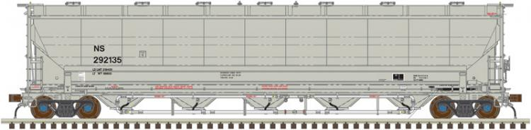 Atlas - Trinity 5660 PD Covered Hopper - Norfolk Southern (NS) #292157 - In Stock