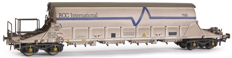 EFE Rail - PBA Tiger Clay Wagon #TRL11620 (ECC International - White) Weathered - Pre Order