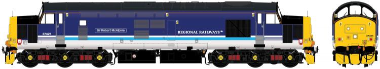 Class 37/4 #37425 'Sir Robert McAlpine / Concrete Bob' (DRS - BR Regional Railways) DCC Sound - Pre Order