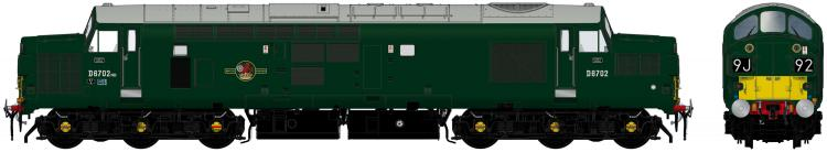 Class 37/0 #D6702 (BR Green SYE - Late Crest) - Pre Order