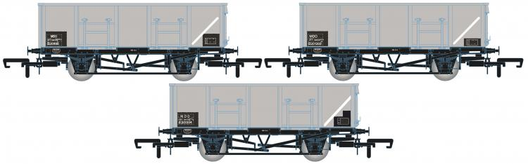 BR MDO 21-Ton Mineral Wagons (Grey - TOPS) Pack E - Pre Order