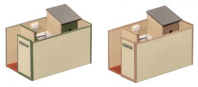 Wills - Small Gents Toilet (2 kits in pack) - In Stock