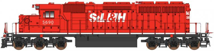 InterMountain - EMD SD40-2 - StL&H #5615 (St. Lawrence & Hudson) - In Stock