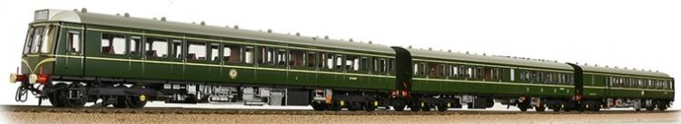 Class 117 3-Car DMU #W51349 - W59501 - W51391 (BR Green - Speed Whiskers) - In Stock