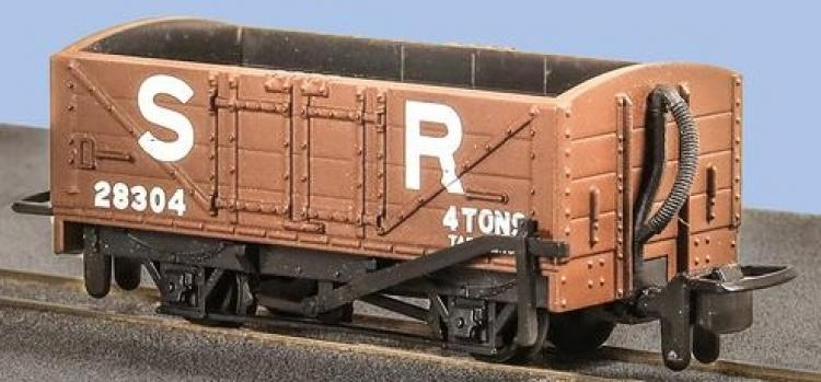 Peco - 4 Wheel Open Wagon #28304 (Southern Railway Brown) - In Stock