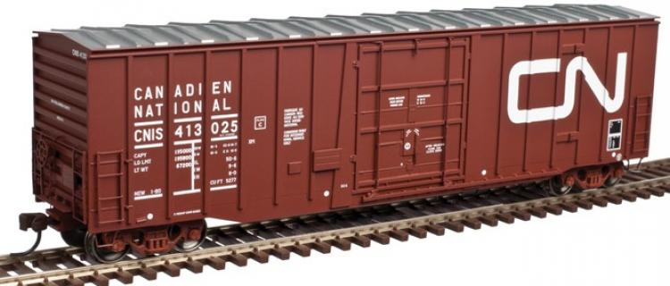 Atlas - NSC 5277 50' Plug Door Box Car - CN #413000 (Brown - Noodle) - In Stock