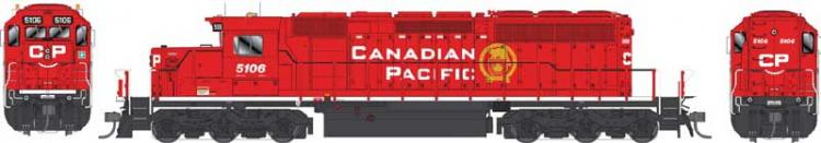 Bowser - GMD SD40-3 - CP #5103 (New Golden Beaver) DCC Sound - Pre Order