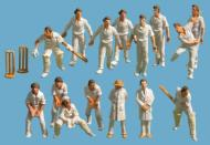 5300 : Peco - Modelscene - Cricketer Figures (15 Pack with Wickets) - In Stock