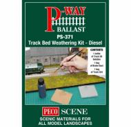 PS-371 : Peco - Track Bed Weathering Kit - Diesel - In Stock