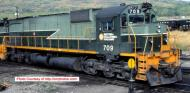 24855 : Bowser - MLW M630 - BC Rail #709 (Two Tone Green - Lightning) - Pre Order