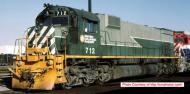 24865 : Bowser - MLW M630 - BC Rail #712 (Two Tone Green - Lightning) DCC Sound - Pre Order