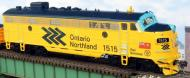 222531 : Rapido - GMD FP7 - ONR #1515 (Ontario Northland - Chevron) DCC Sound - In Stock